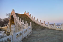 Arch bridge. Chinese style arch bridge in Summer Palace Royalty Free Stock Photography