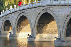 Arch bridge. The close-up of multi arch bridge Stock Images