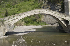 Arch Bridge at Dolceacqua, Italy. The Bridge at Dolceacqua, Province of Imperia, Italy Stock Images