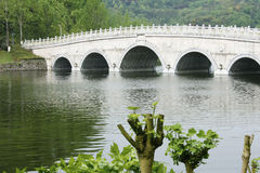 Arch Bridge. A arch Bridge in Forest Park Stock Photos
