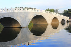 Arch Bridge. A arch Bridge in Forest Park Royalty Free Stock Photo