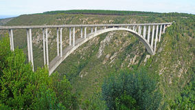 Arch Bridge on the Garden Route. The Bloukrans Bridge is the highest bridge in Africa, road bridge with a bungee jumping platform, landscape along the Garden Royalty Free Stock Photo