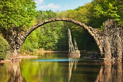 Arch bridge in Germany Stock Images