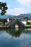 Arch Bridge in Hongcun Village. Hongcun village in Huangshan,  a UNESCO World Heritage Site Royalty Free Stock Photo
