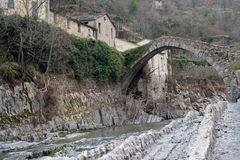 Arch Bridge, Italy. Italy, Province of Imperia, The Arch Bridge Stock Photos