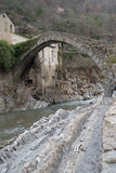 Arch Bridge, Italy. Italy, Province of Imperia, The Arch Bridge Royalty Free Stock Image