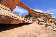 arch bridge krajowej pomnikowego Utah naturalnego Zdjęcia Royalty Free