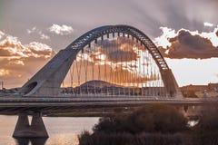 Arch bridge Lusitania in Merida Royalty Free Stock Photos