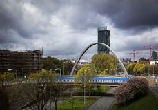 Arch bridge Manchester Royalty Free Stock Photo