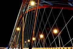 Arch bridge. In night illumination Royalty Free Stock Photography
