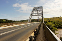 Arch Bridge Over Mtamvuma River. Picture of the Arch Bridge Over Mtamvuma River Stock Image