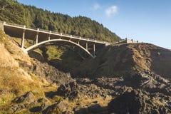 Arch Bridge Over Rocky Ravine. Arch bridge spanning a rocky ravine below Stock Photography