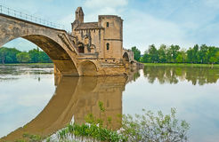 The arch of a bridge Stock Images