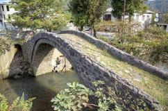 Arch bridge of Queen Tamara. Adjara, Georgia. Royalty Free Stock Images