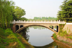 An arch bridge on a river Royalty Free Stock Photo