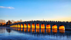 The 17-Arch Bridge on the Winter Solstice Stock Image
