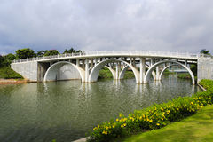 Arch bridge of yuanbiyuan park. Arch bridge of yuanbiyuan ( 园博苑 ) park, amoy city, china Royalty Free Stock Photography