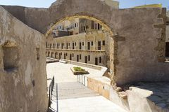 The arch in the building. The architecture of the city of Chania. The island of Crete Greece Stock Images