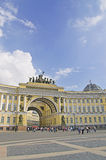 Arch Building. General Army Staff Building in Saint Petersburg, Russia. Classicism-epoch style Stock Image