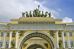 Arch Building. General Army Staff Building in Saint Petersburg, Russia. Classicism-epoch style Stock Photography