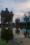 Arch. Building a Triumphal arch in Laos Stock Photos