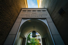 Arch and buildings at George Washington University, in Washingto Royalty Free Stock Photography