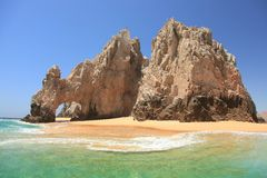 Arch at Cabo San Lucas. Mexico with Sand under the arch Royalty Free Stock Image