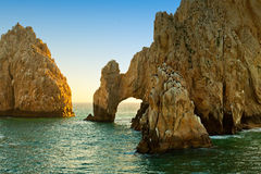 The Arch in Cabo San Lucas, Mexico. The natural rock formation, The Arch, in Cabo San Lucas, Mexico Royalty Free Stock Images