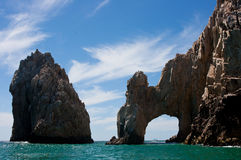 Arch Cabo San Lucas. View of the Arch  at Cabo San Lucas Stock Images