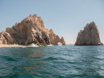 Arch at Cabo San Lucas. Arch viewed from the Pacific Ocean side at Lands End in Cabo San Lucas, Mexico Royalty Free Stock Photos