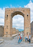 The Arch of Caligula in Pompeii Stock Images
