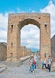 The Arch of Caligula in Pompeii. POMPEII, ITALY - OCTOBER 4, 2012: The Arch of Caligula was the monumental entrance to the Civil Forum, on October 4 in Pompeii Stock Images