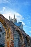 Arch of Canterbury Cathedral in Canterbury Kent UK Royalty Free Stock Photos