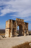 Arch of Caracalla in Volubilis Stock Photography