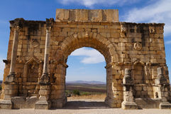 Arch of Caracalla in Volubilis. Morocco Royalty Free Stock Photography