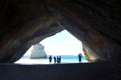 The Arch at Cathedral Cove. View through the Arch at Cathedral Cove Stock Images