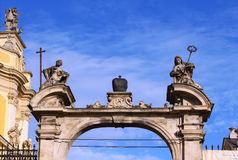 Arch of the cathedral of Saint Yura Royalty Free Stock Photos