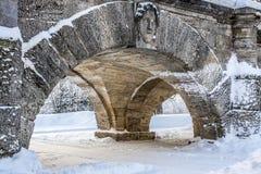 Arch in Catherine Park. Bridge near Catherine palace, Tsarskoye Selo, Pushkin, Saint Petersburg, Russia Royalty Free Stock Image
