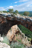 Arch cave. Israel. Keshet Cave Maarat Keshet or Rainbow cave or Arch cave. Israel Stock Images