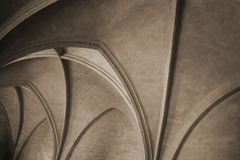 Arch ceiling of ancient building Royalty Free Stock Image