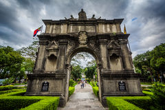 The Arch of The Centuries at University of Santo Tomas, in Sampa. Loc, Manila, The Philippines Royalty Free Stock Images