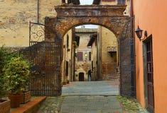 Arch, Certaldo Alto, Tuscany, Italy Stock Photography