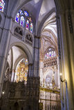 Arch.Chapel.inside the cathedral of toledo. Stained glass,art, imperial city. Spain Stock Photography