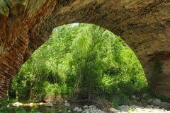 Arch of the Chianche Bridge in Buonalbergo, Campania, Italy. An arch of the Chianche Bridge in Buonalbergo, Campania, Italy. The bridge is part of Trajan's Road Stock Photography