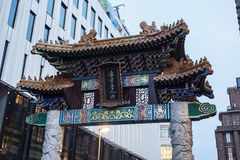 Arch in Chinatown. The Hague, South Holland, Netherlands Royalty Free Stock Photos