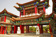 Arch of Chinese gate. Great beautiful arch of Chinese gate Royalty Free Stock Images