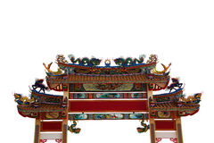 Arch of Chinese temple. Arch architecture of China style in Chinese Temple Stock Images