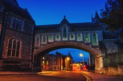 Arch of the Christ Church Cathedral in Dublin, Ireland Stock Images