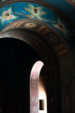 Arch in a Christian Monastery New Afon. Interior of a temple of  New Afon Monastery in Abkhazia Stock Image