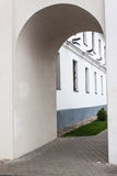 Arch in the city wall. The passage in the form of an arch in the wall of the old city Minsk Belarus Stock Images